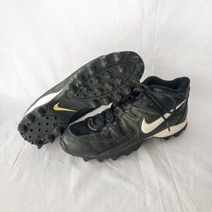 Nike Baseball Cleats - Black & White - Size 9.5